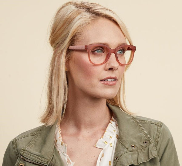 Peepers Brocade Blue Light Reading Glasses Blush