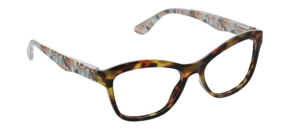 Peeperes Brushwork Blue Light Reading Glasses Tortoise