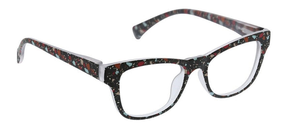 Peepers Terrazzo Blue Light Reading Glasses Black