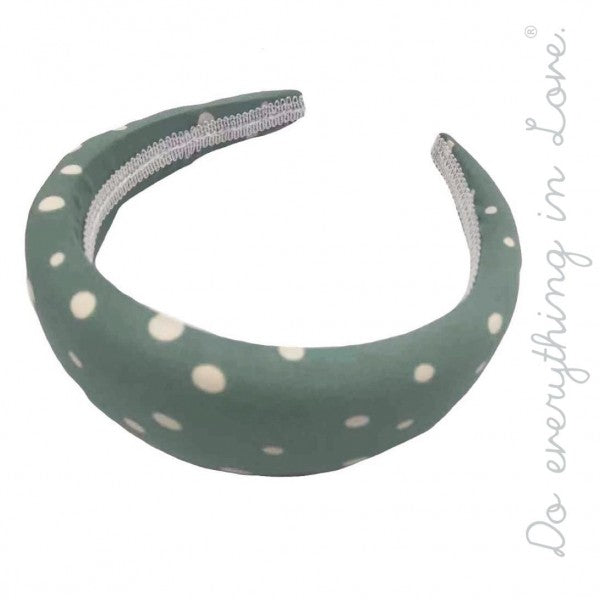 Sage Polka Dot Headband