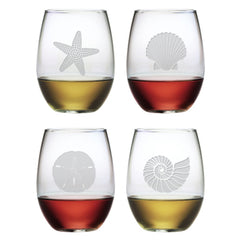 Sea Shell - stemless wine glass