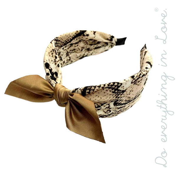 Snakeskin With Bow Headband