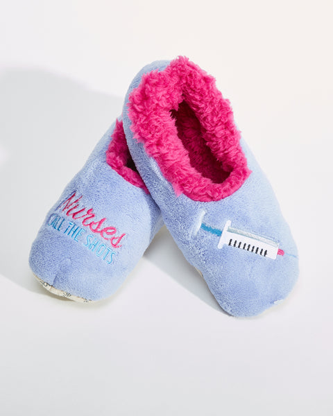 Nurses Call the Shots Slippers