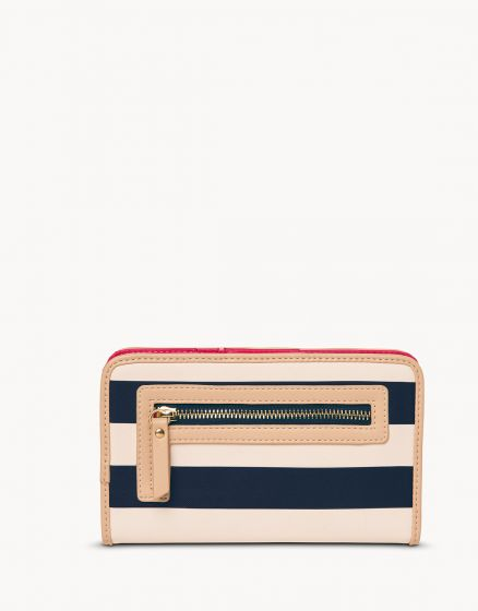 Spartina Snap Wallet Navy Stripe
