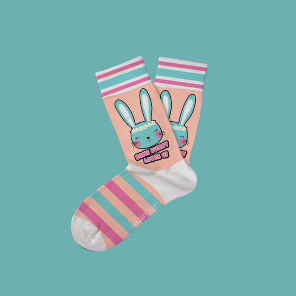 Some Bunny Loves You Kids Socks