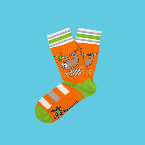 Just Chillin' Sloth Kids Socks