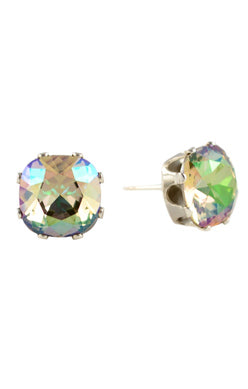 JoJo Cushion Cut Earrings Topaz with Pink