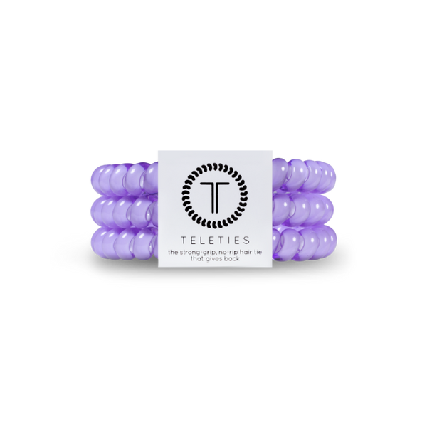Lilac Teleties Hair Ties