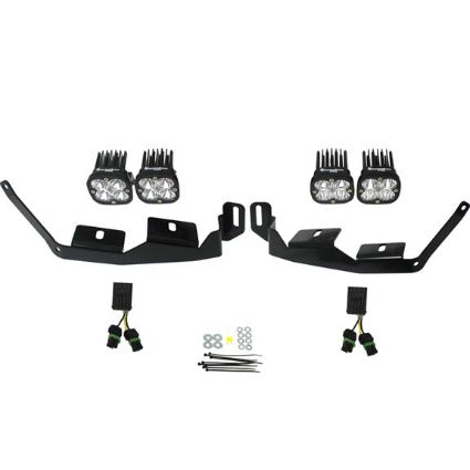 Baja Designs Polaris LED Light Pods 2 Inch Harness A Pillar Mounts Kit Squadron Sport