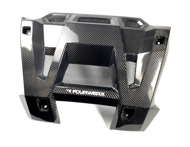 FOURWERX POLARIS RZR 1000 14+ CARBON FIBER EXHAUST SURROUND - WITH VENTS RZR-CF-EXTRIM