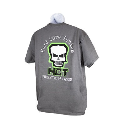 HCT Crew Gray shirt with LG Skull on back