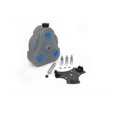 "Cam Can Complete Kit 15"" spare tire mount Gray and Blue 2 gallon"
