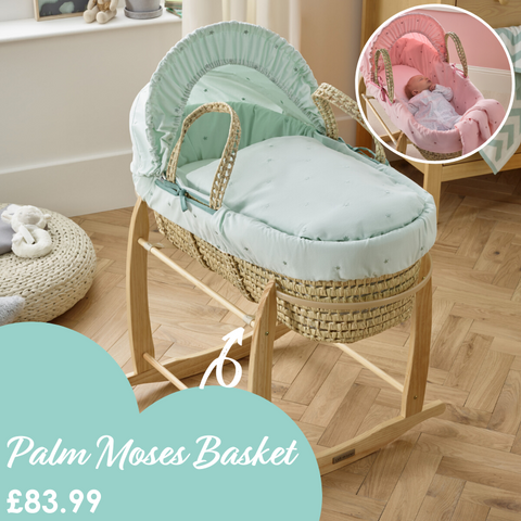 Lullaby Stars Palm Moses Basket