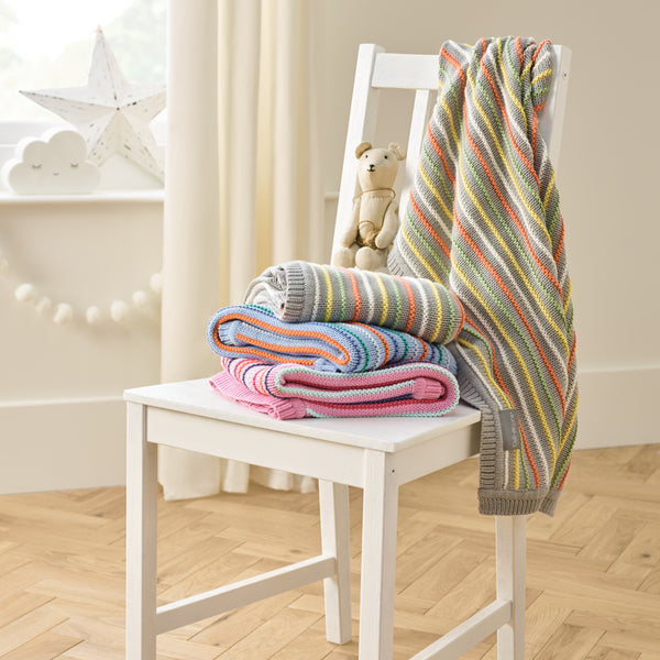 Stripe Thick Knit Blanket