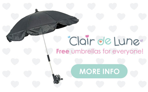 Clair de Lune Footmuff & Umbrella