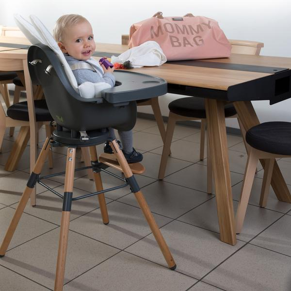 Childhome Evolu One.80° Chair - 2 In 1 with Bumper