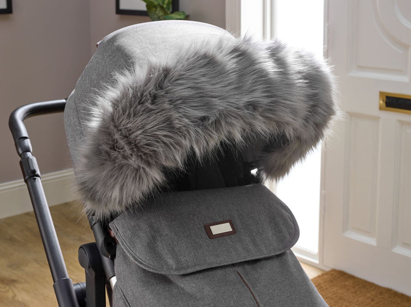 Universal Pushchair/Stroller Faux Fur Hood Accessory