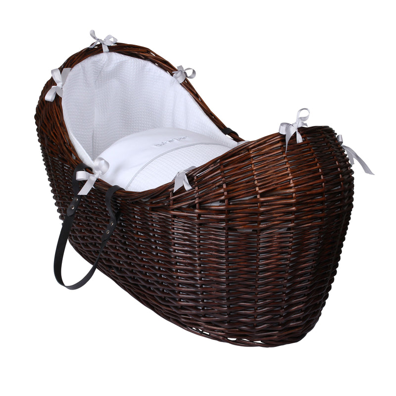 Silver Lining Dark Wicker Noah Pod® in White