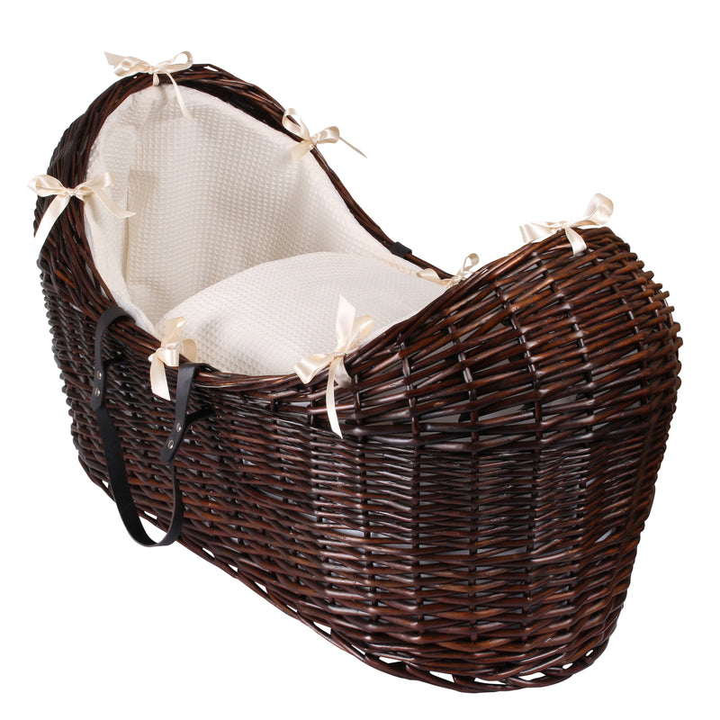 Waffle Dark Wicker Noah Pod® in Cream