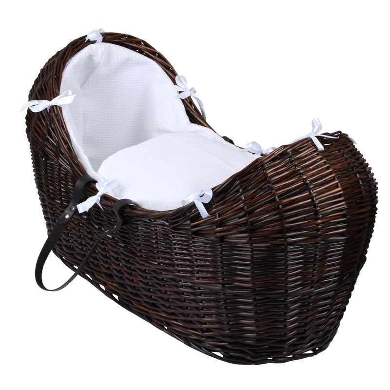 Waffle Dark Wicker Noah Pod® in White