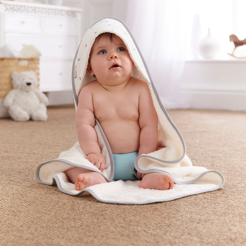 Lullaby Hearts Hooded Towel