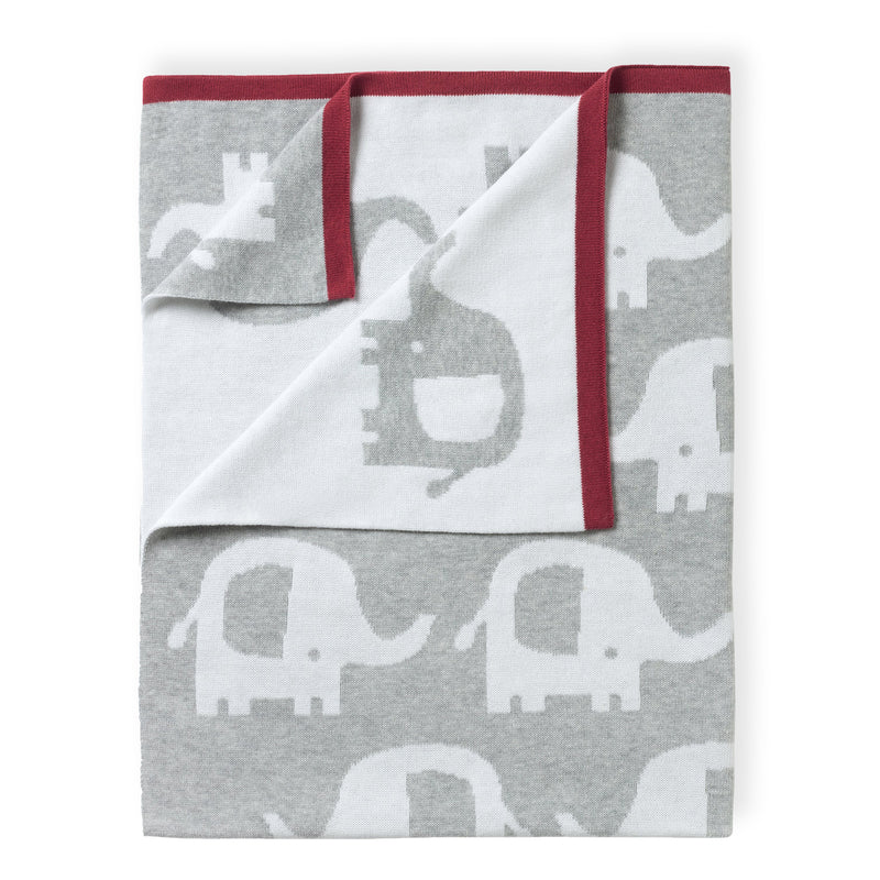 Eli the Elephant Reversible Blanket