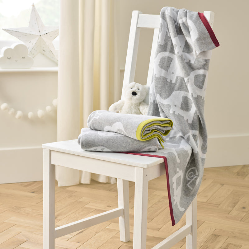 Eli the Elephant Reversible Blanket Stack