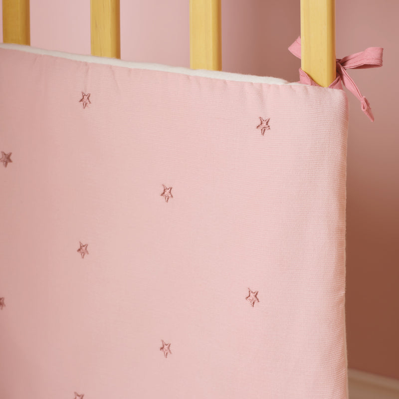 Lullaby Stars Cot/Cot Bed Quilt And Bumper Bedding Set