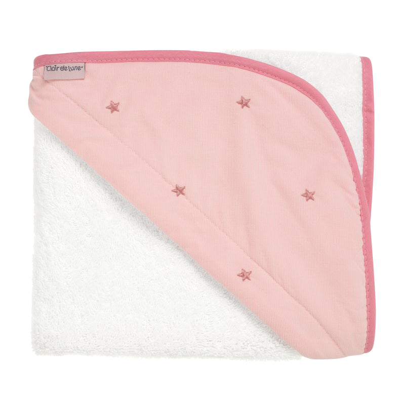 Lullaby Stars Hooded Towel in Blush