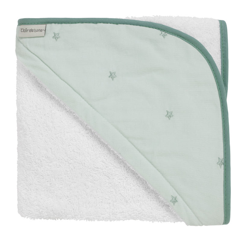 Lullaby Stars Hooded Towel in Mint
