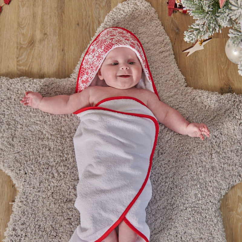 Winter Snowflake Baby Hooded Bath Towel
