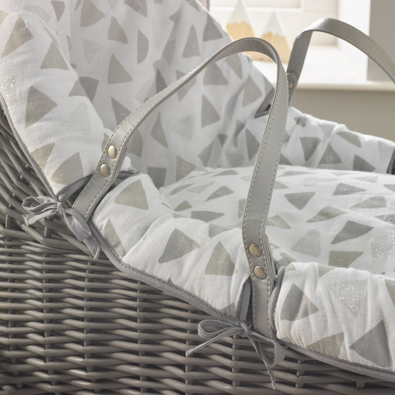 Sparkling Muslin Grey Willow Bassinet®