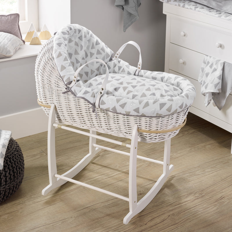 Sparkling Muslin White Willow Bassinet®