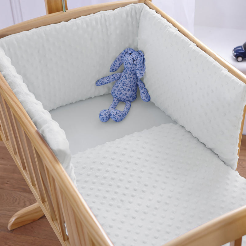 Dimple Crib/Cradle Quilt & Bumper Bedding Set