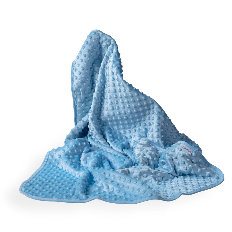 Dimple Baby Pram Blanket - Blue