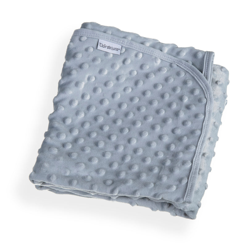 Dimple Baby Pram Blanket - Grey