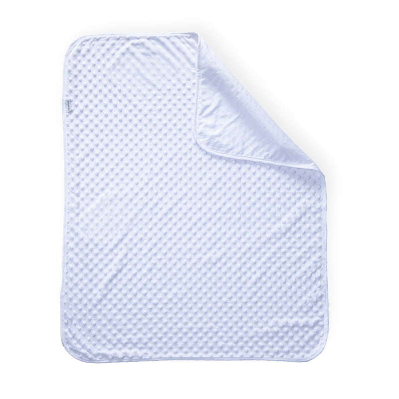 Dimple Baby Pram Blanket - White
