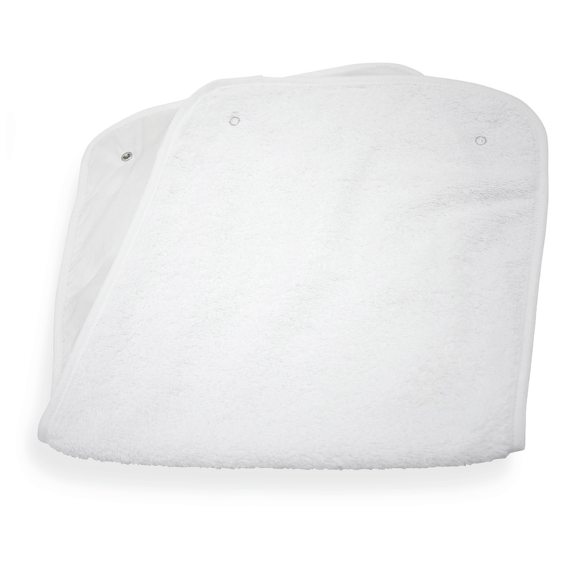 Roly Poly Travel & Change Mat® Towelling Topper in White