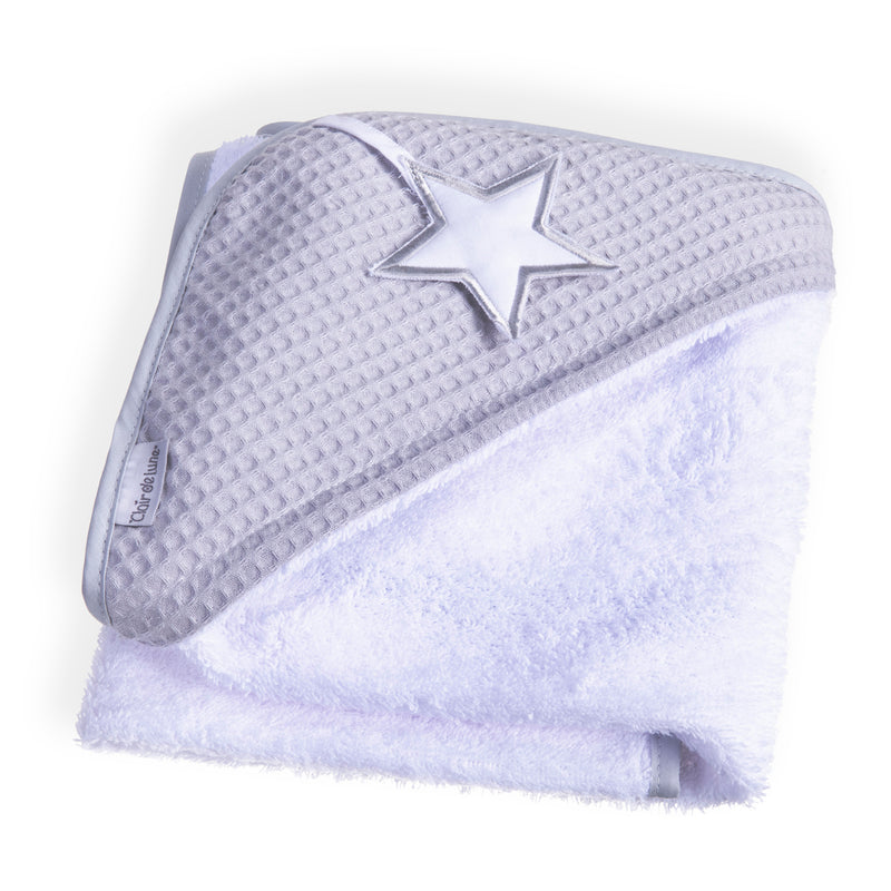 Silver Lining Hooded Towel - Grey