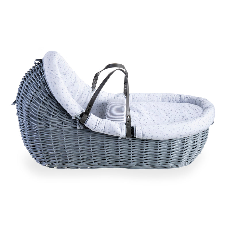 Stars & Stripes Grey Willow Bassinet - Grey