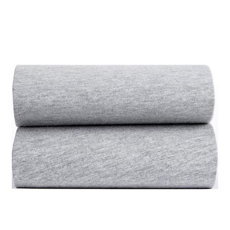 2 Pack Fitted Grey Marl Cot Bed Sheets