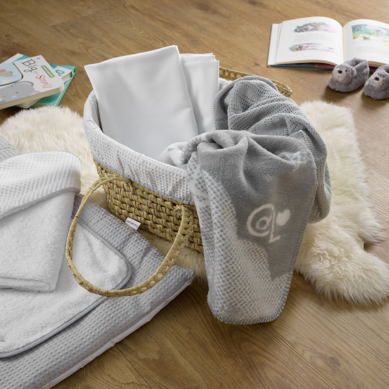 My First Moses Gift Basket in Grey