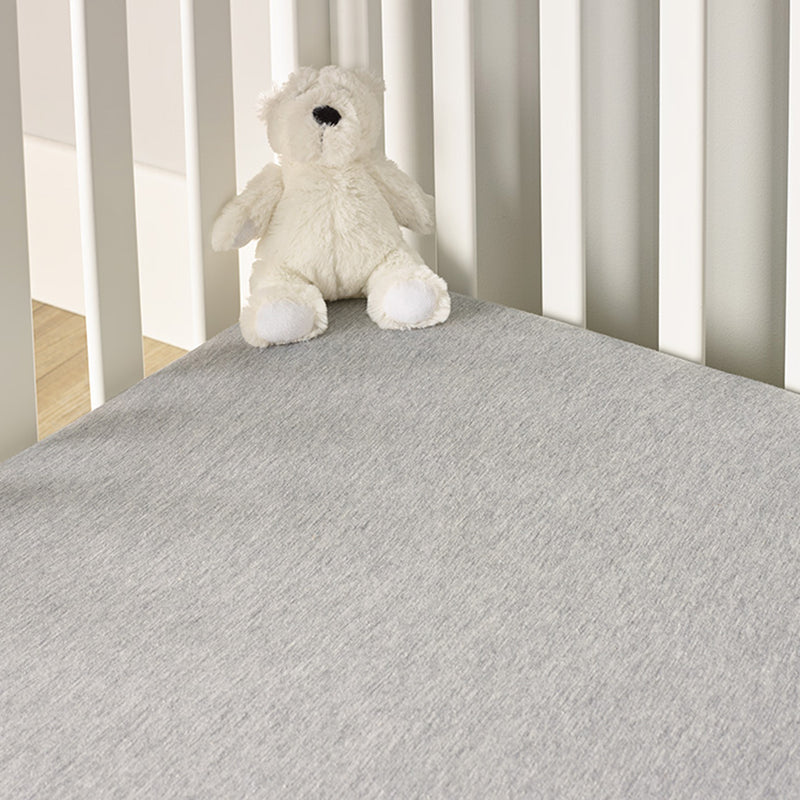 2 Pack Fitted Grey Marl Cot Sheets