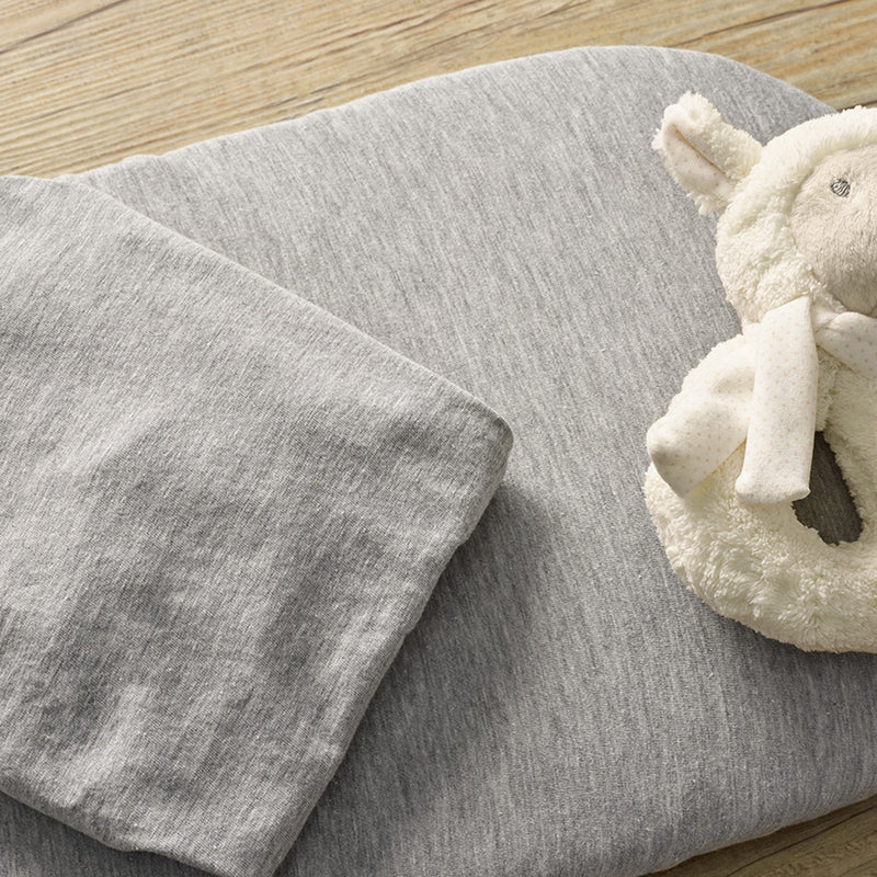 2 Pack Fitted Grey Marl Pram/Crib Sheets