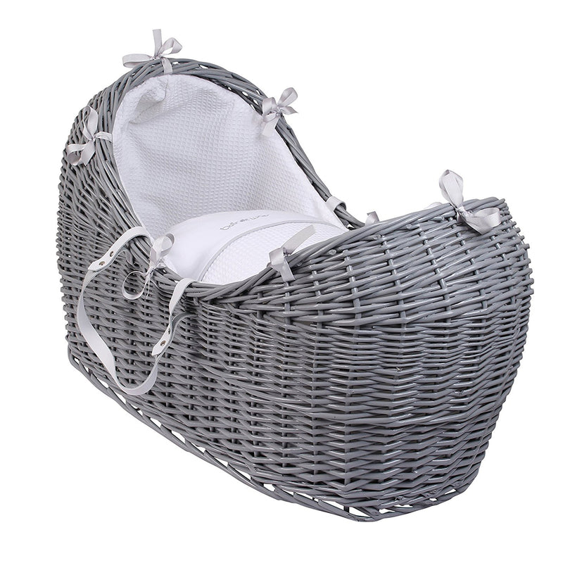 Silver Lining Grey Wicker Noah Pod® in White
