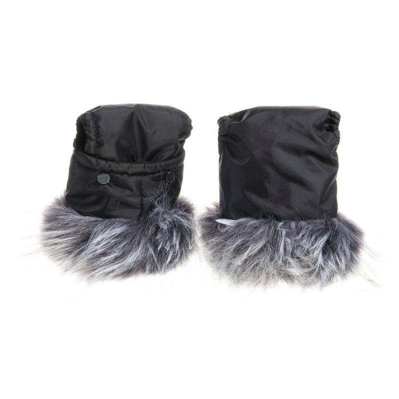 Universal Pushchair/Pram Faux Fur Mittens in Squirrel