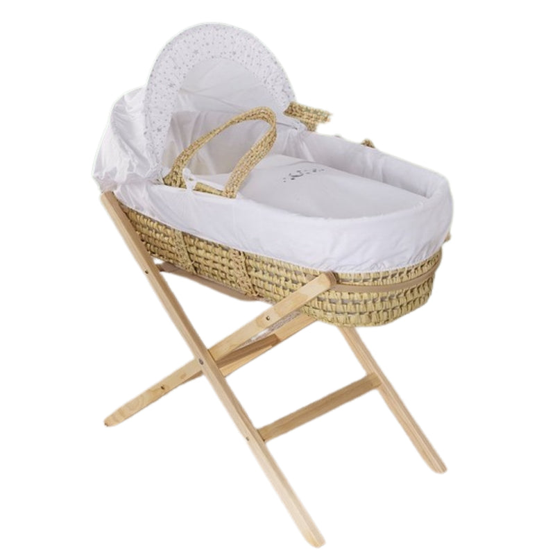 Moon & Stars Palm Moses Basket & Folding Stand