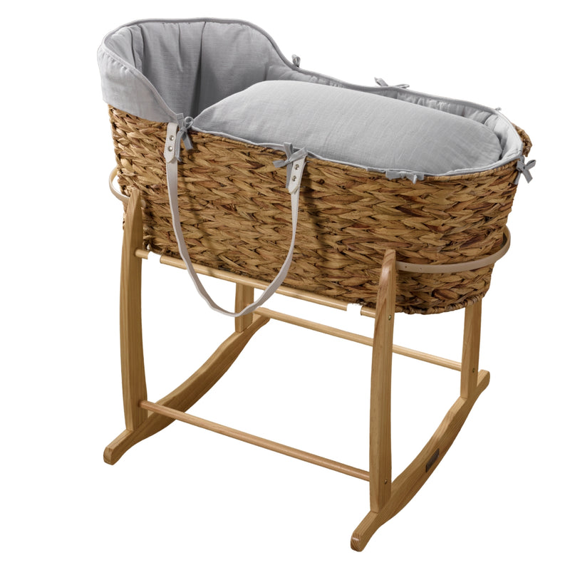 Muslin Hyacinth Moses Basket & Deluxe Rocking Stand