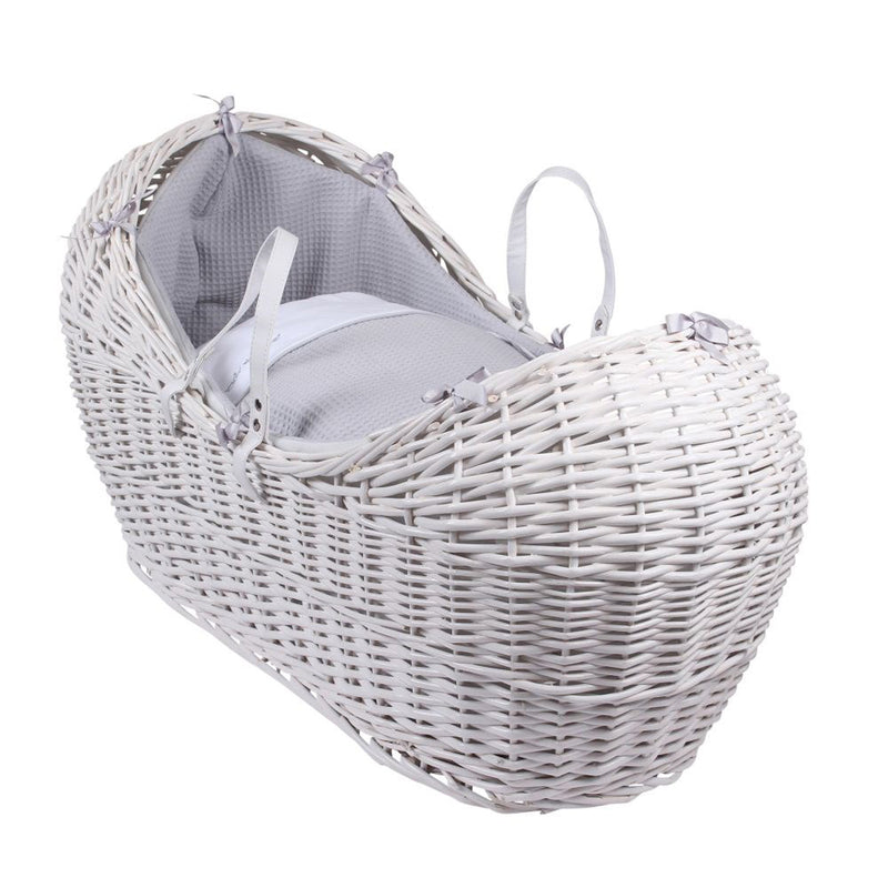 Silver Lining White Wicker Noah Pod® in Grey