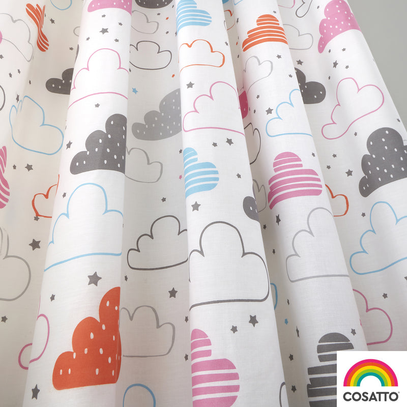 "Cosatto Fairy Clouds Pencil Pleat Curtains - 66"" Width x 72"" Drop"